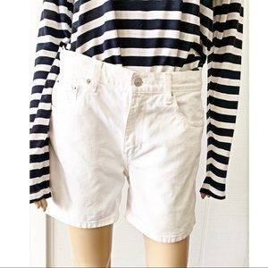 ❤️ Levi's White Denim Jean Shorts Size 10